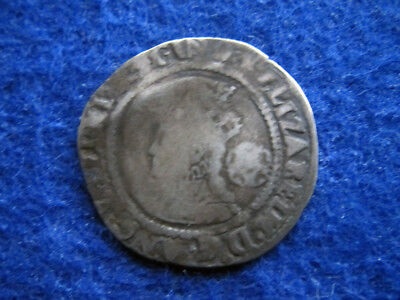 England - 1570 Queen Elizabeth I Silver Sixpence - Hammered - Free U S Shipping