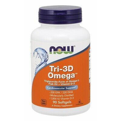 NOW Foods Tri-3D Omega™ 90 Softgels FREE SHIPPING. MADE IN USA