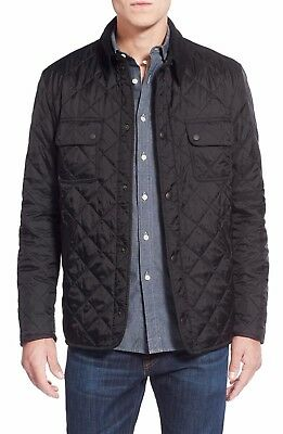 Barbour Men's Black Tinford Diamond Quilted Jacket - Small - Brand New w/Tags