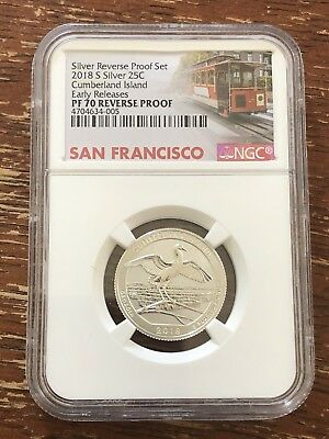 2018 S Silver Reverse Proof 25C Cumberland Island Early Release PF70 RD NGC