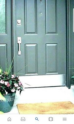 """Door Kick Plate 8"""" x 32"""" 18 guage 304 Stainless Steel brushed finish"""