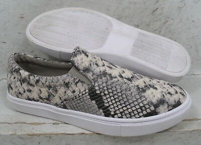 d8acdced3f4 STEVE MADDEN WOMENS Gills Natural Snake Print Slip On Sneakers Shoes size 8  M