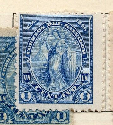 Salvador 1896 Early Issue Fine Mint Hinged 1c. 272543