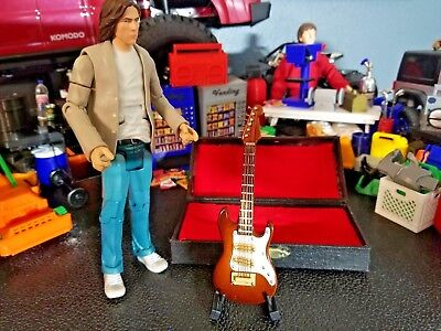 RC 1/10 Scale Coffee Electric Guitar #1 Case Stand Rock Crawler Doll House Mini