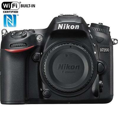 Nikon D7200 24.2 Mp DX-Format CMOS WiFi Digital SLR Camera Body Only - NEW!