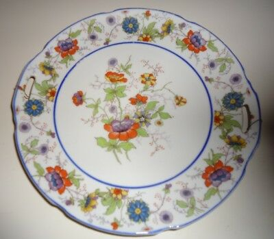Antique Vintage Leuchtenburg Germany Plate Floral Hand Painted Cabinet Plate