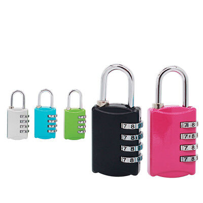 Resettable 4-Digit Combination Lock Travel Luggage Suitcase Bag Code Padlock New