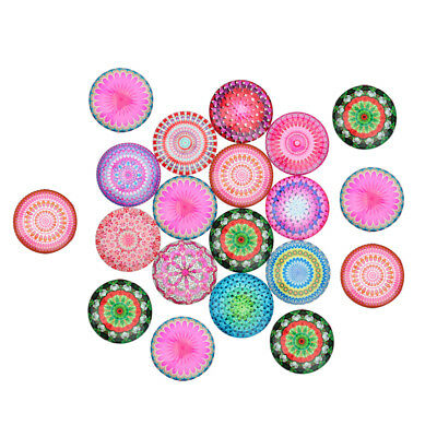 20x Fridge Magnet Glass Cabochons Floral Dome Flat Back Scrapbook 12mm