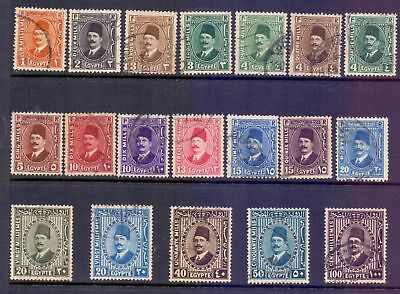 Egypt  1927/37  King Fuad, used.