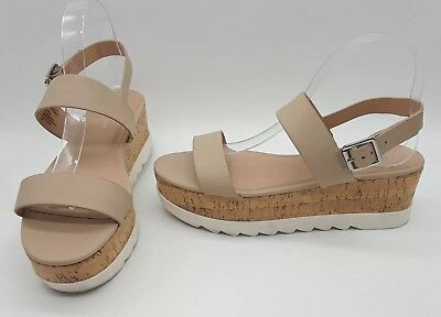 e91ca8223d3 Madden Girl Sugarr Women Shoes Platform Strap Sandals Nude Paris Sz 9 M
