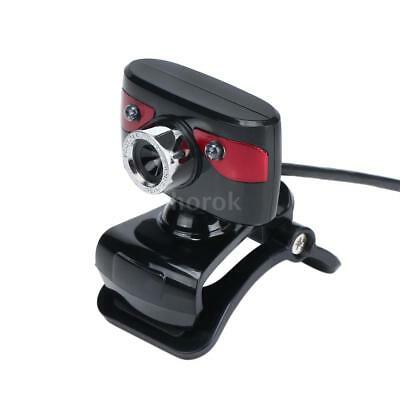 USB2.0 12MP HD Camera Webcam 360 Degree Rotatable w/Mic Clip-on for PC New T0A4
