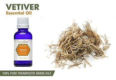 Vetiver Essential Oil 100% Pure UNCUT Undilluted Pure Therapeutic Grade Oils