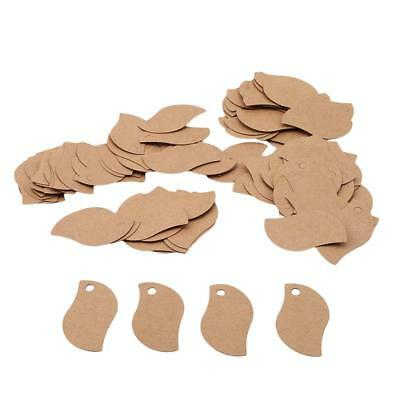 100X Leave Shape Wedding Favour Hanging Place Table Setting Name Tag Label J