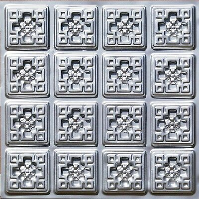 # 103 (Lot of 5)  PVC Faux Tin Decorative Ceiling Tile Panels (Glue-Up Only)