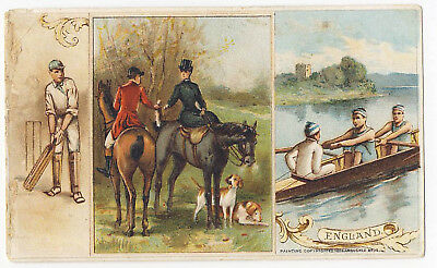Arbuckle Coffee 1893 Trade Card Sports & Pastimes #2 England Cricket Rolling