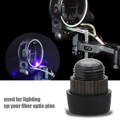 Fiber Optic LED Sight Light 3/8-32 Thread Sight Light for Compound Bow Hunting