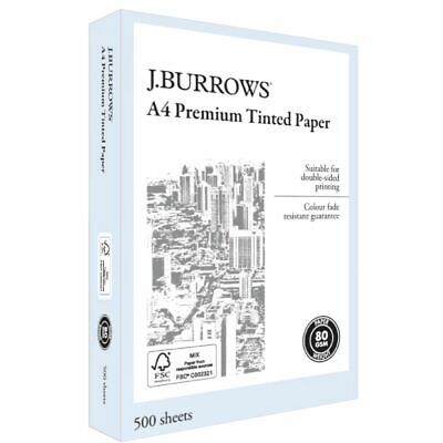Bulk Buy - 3 x J.Burrows Premium A4 Tinted Paper Ream Blue
