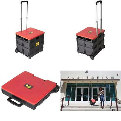 Dbest Products Quik Cart Two-Wheeled Collapsible Handcart With Red Lid Rolling