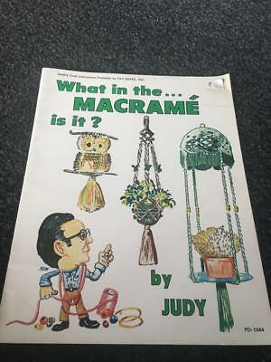 VINTAGE / RETRO MACRAME / WHAT in the MACRAME is it / OWLS /1977 - RARE