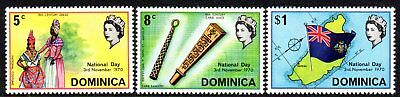 1970 DOMINICA NATIONAL DAY SG308-310 mint unhinged