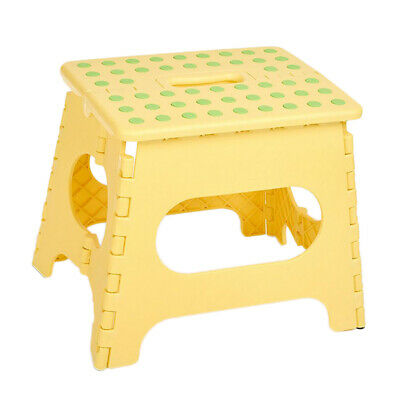 Strong Plastic Multi Purpose Folding Step Stool Home Kitchen Carry Storage