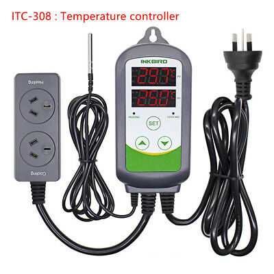 Inkbird Temperature Controller Digital Thermostat Humidity Logger Probe Sensor