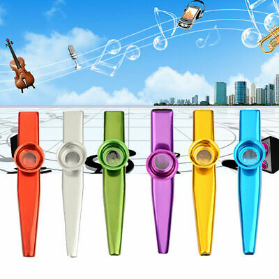 Metal Kazoo Flute Mouth Music Instrument Harmonica Practical Golden Kids Gift