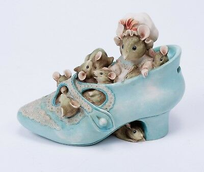 Vintage Beatrix Potter Old Woman Who Lived in a Shoe Money Box Ornament