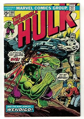 Marvel Comics  Incredible Hulk 180 1st Appearance Wolverine 1974 6.5 FN+ wendigo
