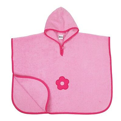 Betz Children Poncho Flower 100% Cotton Colour: Pink Size: 68x54 cm