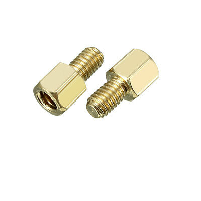 2pcs M4 6+6mm Female Male Thread Brass Hex Standoff Spacer Screws PCB Pillar