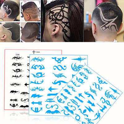 28pcs/Pack Hair Tattoo Template Mold Stencil Trimmer Salon Barber Hairdressing