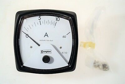 Crompton Ammeter Scale 0/10/60A