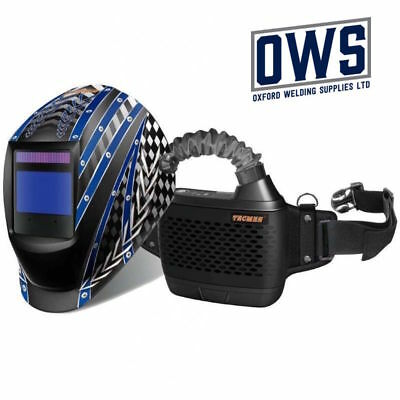TECMEN Air Fed Welding Helmet / Mask PAPR / BLUE