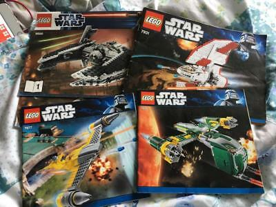 5 Lego Star Wars Instructions Book Manual From Set Sets 9500 7931