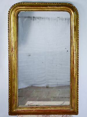 Large gilded French Louis Philippe mirror