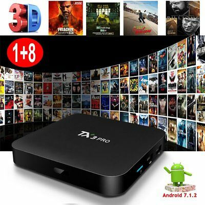 NEW S905W ANDROID 7.1.2 Smart TV BOX 4K Media Player 1+8G MINI PC HDR10 WIFI UK