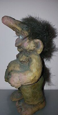Scarce Genuine Vintage Compound Troll Doll Figure 18Cm Likely Norwegian