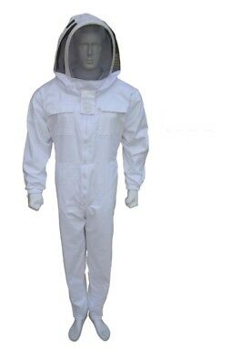Bee Work White Beekeeping Suit Beekeeper Suit Jacket Round Veil Full Suit-L-01