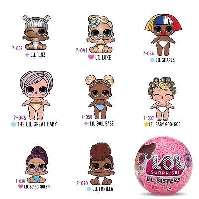 Lol Surprise Lil Sisters Eye Spy Series 4 Choose your doll Ultra Rare,Gold Ball