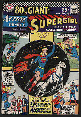 Action Comics #334 Mar 1966. 80 Pg Giant G-20, Off White/white Pages