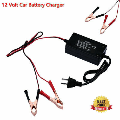12V Automatic Battery Float Charger Trickle Car Boat Motorcycle Charger US Stock