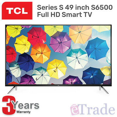 "TCL 49"" Inch HD LED Smart TV Netflix Youtube WiFi 49S6500FS + 3 Yr Warranty"