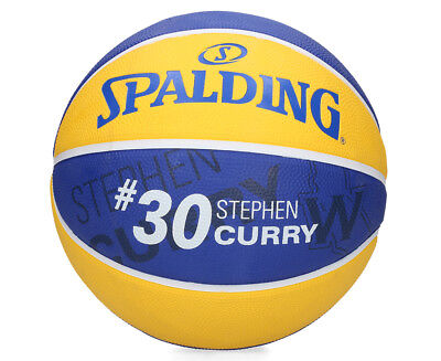 Spalding NBA Player Series Stephen Curry Curry Size 7 Basketball - Yellow/Navy