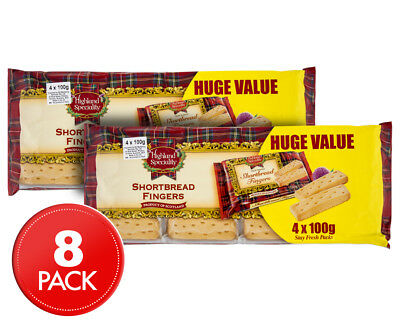 2 x Highland Speciality Shortbread Fingers Value Pack 400g