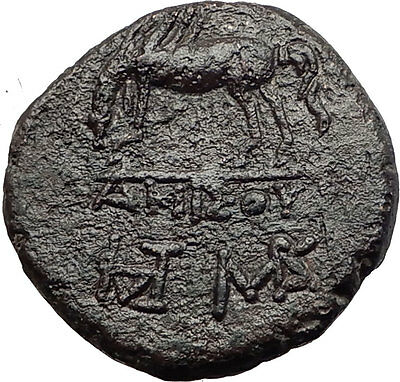 AMISOS in PONTUS MITHRADATES VI the GREAT Time Perseus Pegasus Greek Coin i60860