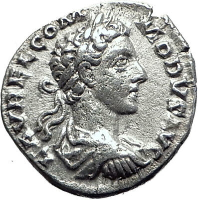 COMMODUS Gladiator 178AD  Rome Ancient Silver Roman Coin SALUS Health i64477