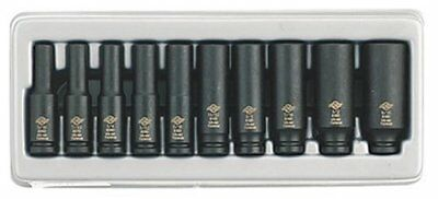Sunex 1811 10-piece 1/4 In. Drive Deep Fractional Sae Impact Socket Set