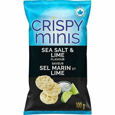Quaker Crispy Minis Sea Salt and Lime Rice Chips (12ct) {Imported from Canada}