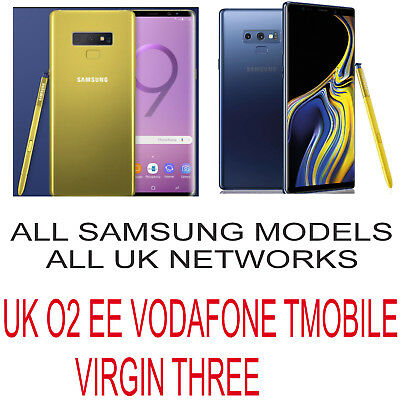 Unlock Code Samsung Galaxy Note 9 8 S9 S8 Plus S7 Edge S7 S6 Uk O2 Ee Vodafone